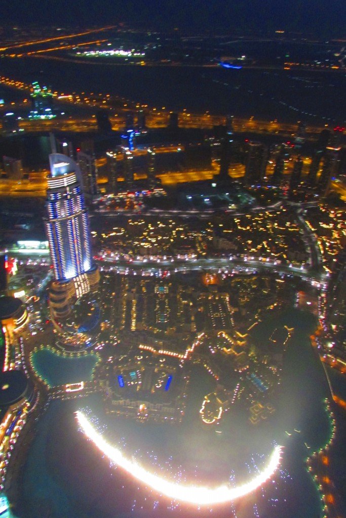 vue depuis Burj Khalifa à Dubaï