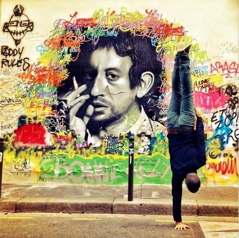Maison de Serge Gainsbourg rue de Verneuil - Graffiti by Anthony Lemer © Kapstand