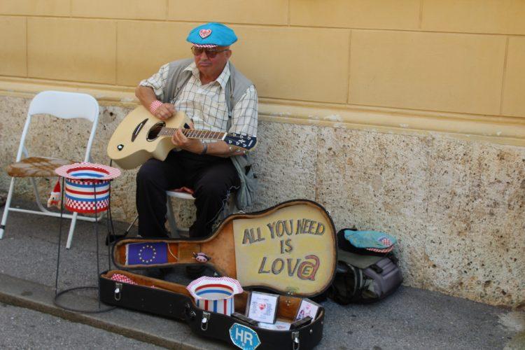 Musicien à Zagreb Croatie