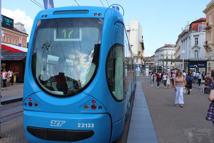 Le tramway à Zagreb