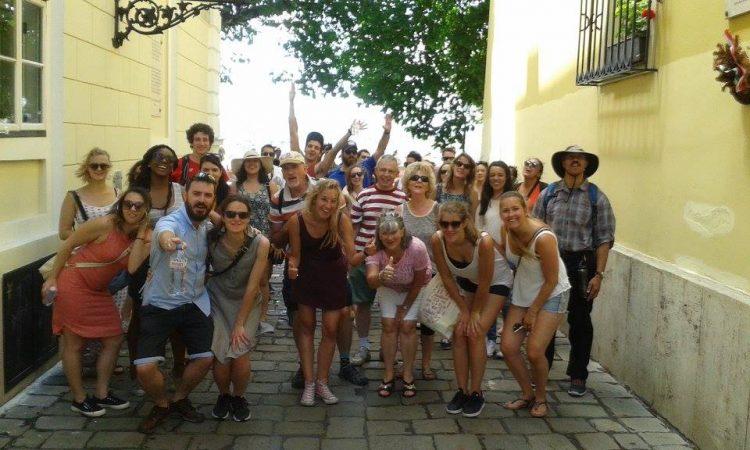 Photo de groupe lors de mon passage à la capitale hongroise Copyright Free Walking Tours Budapest
