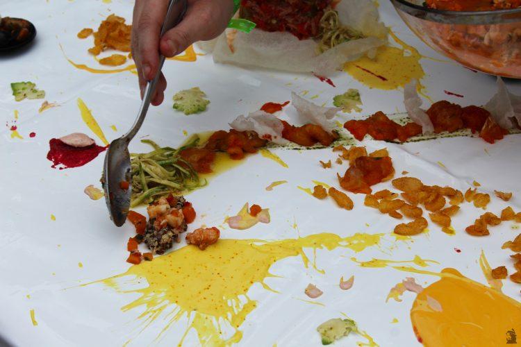 Wafik Belaid food painting les étoiles de Mougins