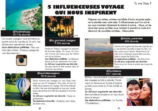 """Dans la sélection """"Top 5 des influences qui nous inspirent"""" Jet Lag Trip Magazine #9"""