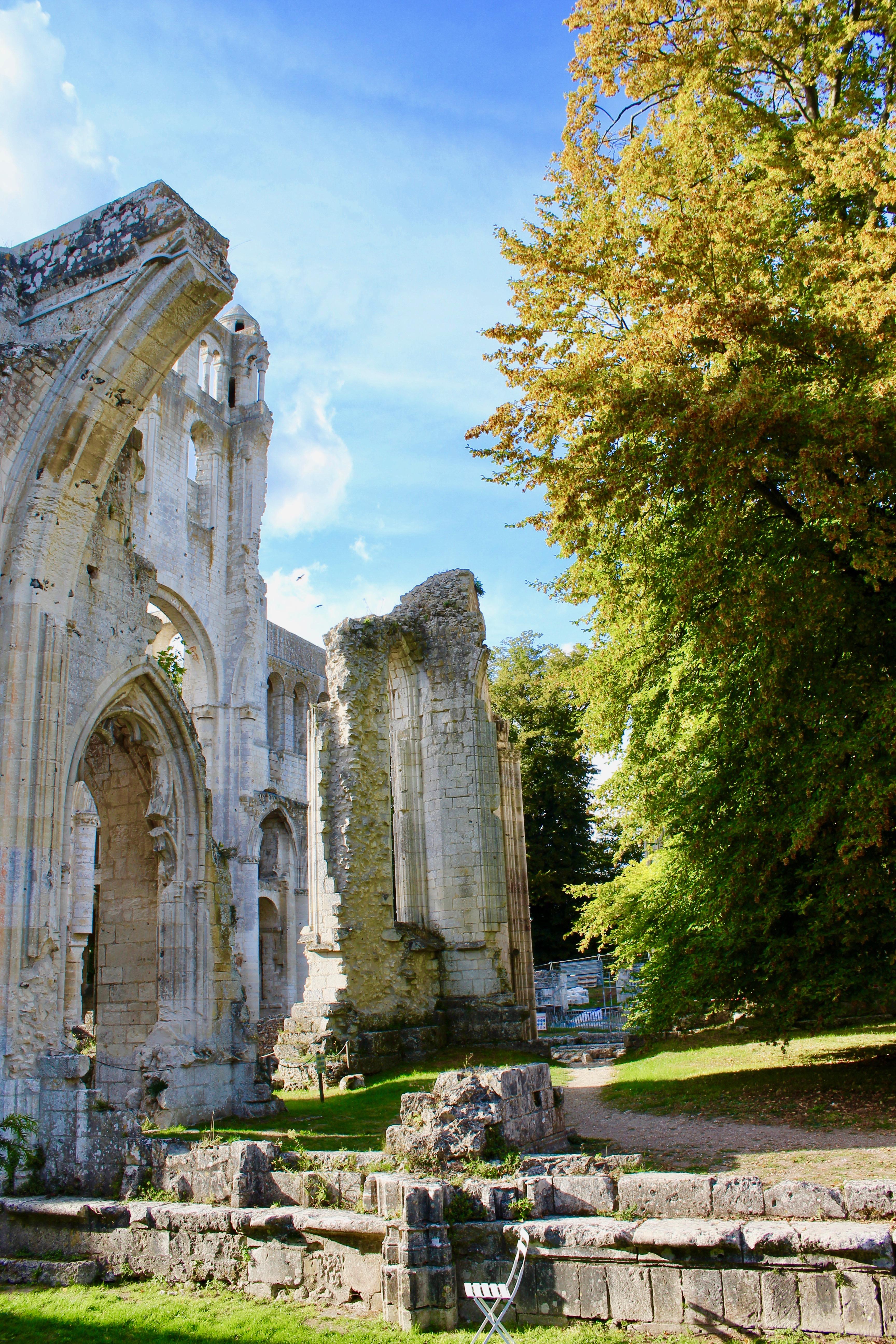 Ruines de Jumièges en Normandie
